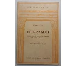 Epigrammi - Marziale - Carlo Signorelli Ed. - 1954 - G