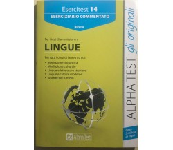 Esercitest 14 - Per i test di ammissione a Lingue di Alessandro Lucchese, France