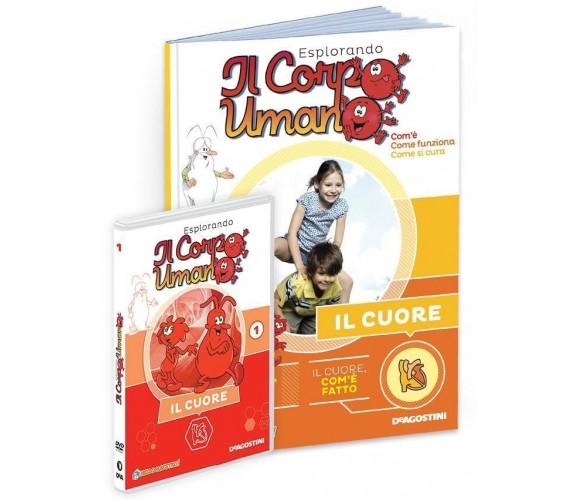 Esplorando il Corpo Umano n 1 Il Cuore DVD + Volumetto De Agostini