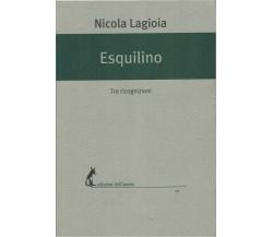 Esquilino Tre ricognizioni - Nicola Lagioia,  2017,  Edizioni Dell'Asino