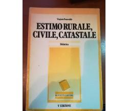 Estimo rurale , civile,catastale - Virginio Panecaldo - Buffetti - 1984 - M