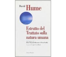 Estratto del Trattato sulla natura umana - David Hume - Editori Riuniti,2001 - A