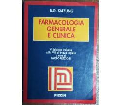 Farmacologia generale e clinica - Katzung - Piccin,2003 - R