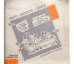 Fatti e misfatti di mafia di AA.VV., 1995, Fondazione Gaetano Costa