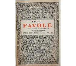 Favole di Esopo scelte e commentate da Giovanni Buscema (1945) - ER
