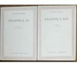 Filippica IV; Filippica XIV - M. Tullio Cicerone - La scuola editrice,1956 - a