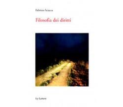 Filosofia dei diritti - Fabrizio Sciacca