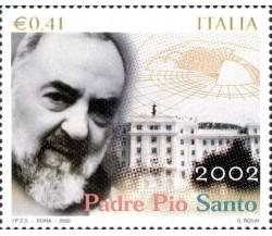 Francobollo ITALIA 2002 - PADRE PIO SANTO - € 0,41 - NUOVO