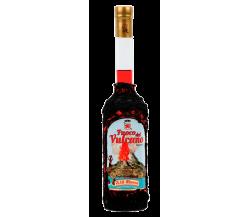 Fuoco del Vulcano ricoperto con pietra lavica dell'Etna liquore Russo Sic/500 ml