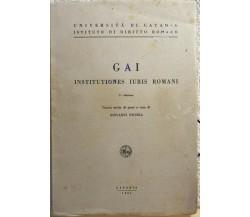 Gai Institutiones Iuris Romani di Giovanni Nicosia,  1961,  Università Di Catani