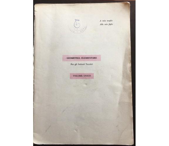 Geometria Elementare - Pompeo Nisini,  Casa Editrice Luigi Trevisini - P