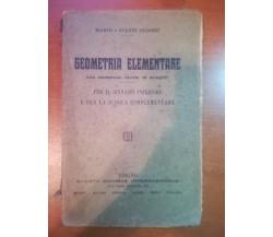 Geometria elementare - Mario e Gianni Gliozzi - SEI - 1928 - M