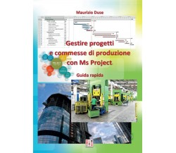 Gestire progetti e commesse di produzione con Ms Project, Maurizio Duse,  2016