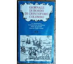 Giornale di bordo di Cristoforo Colombo-Colombo-Arnoldo Mondadori Editore,1973-R