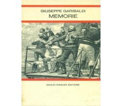 Giuseppe Garibaldi. Memorie - Daniele Ponchiroli (a Cura),  1975,  Einaudi