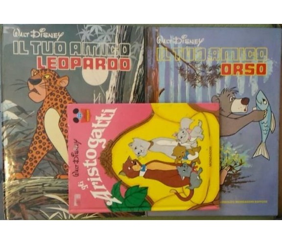 Gli Aristogatti- Il tuo amico Leopardo- Il tuo amico Orso  di Aa.vv.,Walt Disney