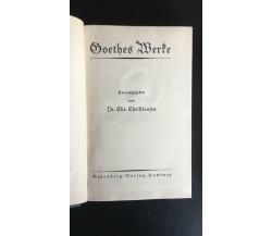 Goethes Werte - Dr. Chr. Chriftianfen,  Gutenberg - P
