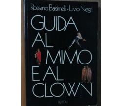 Guida al mimo e al clown - Negri, Balsimelli - Rizzoli,1982 - R