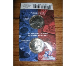 Hallmark American Spirit State quarter collection VIRGINIA (D & P minted) NIP