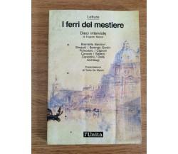 I ferri del mestiere - E. Manca - l'Unità - 1989 - AR
