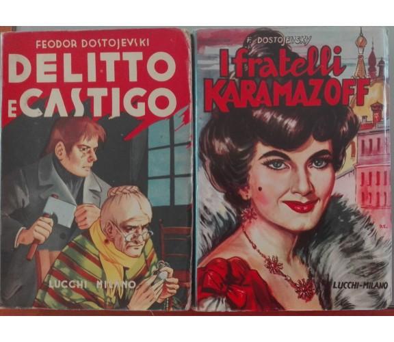 I fratelli Karamazoff; Delitto e castigo - Feodor Dostojevski - Lucci, 1959/60-A