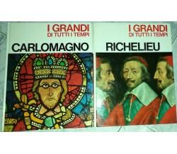 I grandi di tutti i tempi:Carlo Magno+Richelieu+Aa.vv.-1967-Mondadori Editore-lo