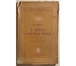 I sette contro Tebe di Eschilo, 1966, Le Monnier