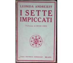 I sette impiccati - Leonida Andreieff - Sonzogno, 1919 - A