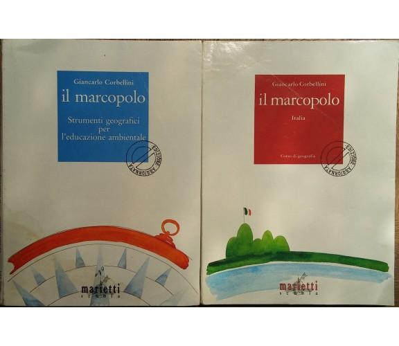 Il Marcopolo (rosso) e (blu) - Giancarlo Corbellini - Marietti scuola- R
