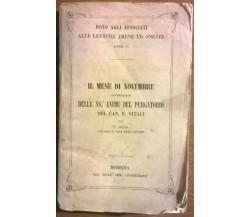 Il Mese di Novembre - Francesco Vitali, Tip. Dell'Imm. Concezione,1862 - L