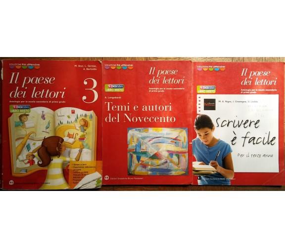 Il Paese dei lettori Vol.3+altri-AA.VV.-Ed.Scolastiche Bruno Mondadori,2009-R