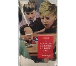 Il fanciullo dai cinque ai dieci anni- Arnold Gesel E Frances L. Ilg,  1950