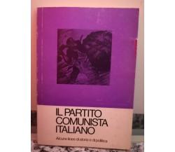 Il partito comunista italiano di G. D'Alò F. Lazzari,  Fll. Spada-F