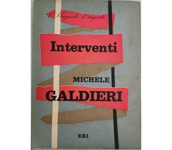 Interventi di Michele Galdieri,  1956,  Eri - ER