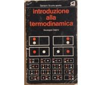 Introduzione alla termodinamica di Giuseppe Dabini, 1973, Sansoni Scuola aperta