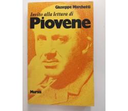 Invito alla lettura di Piovene - Giuseppe Marchetti,  1977,  Mursia - S