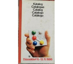 Katalog Dusseldorf 6.-13.11.1986, 10th international trade Fair plastic - ER