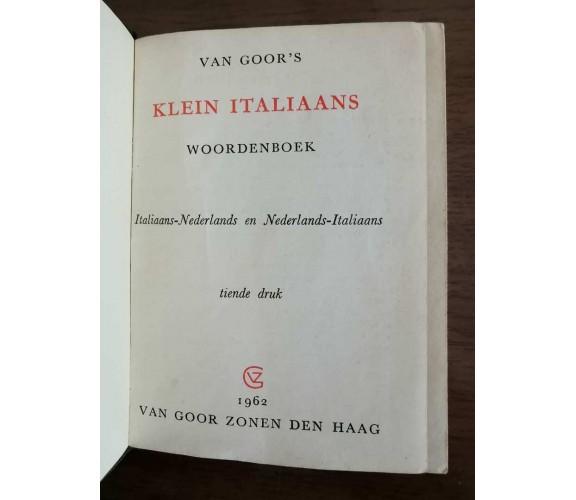 Klein italiaans woordenboek - Van Goor's - 1962 - AR