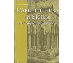 L'ARCHITETTURA IN SICILIA. dai Normanni agli Aragonesi. Giovanni Di Blasi