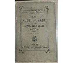 LE NOTTI ROMANE- ALESSANDRO VERRI - SALESIANA - 1886 - M