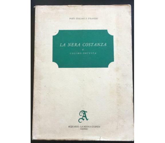 La Nera Costanza - Cosimo Ortesta,  Acquario - La Nuova Guanda - P