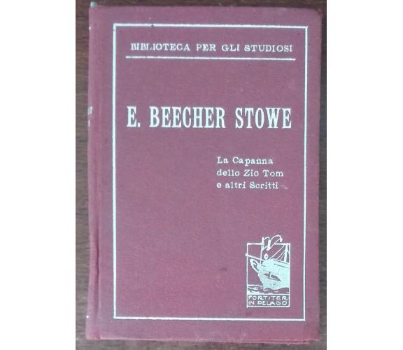 La capanna dello Zio Tom e altri scritti - E. Beecher Stowe - La Prora - A