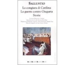 La congiura di Catilina. La guerra contro Giugurta. Storie - Testo latino a fro