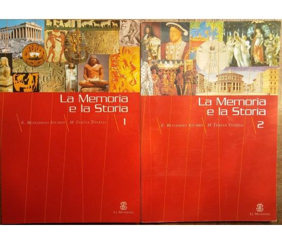 La memoria e la storia Vol.1eVol.2-Stumpo,Tonelli-Le Monnier,2000-R