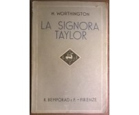 La signora Taylor - Marjorie Worthington - 1937,  R. Bemporad & F. - L