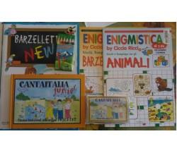 La valigetta dell'enigmistica - 4 libri + colori  + cassetta  Aa.vv.