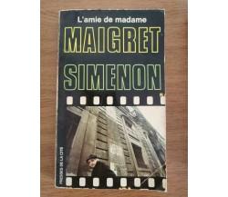 L'amie de Madame Maigret - G. Simenon - 1952 - AR