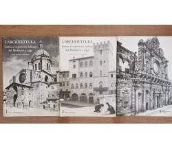 L'architettura 1, 2 e 3 - Vacchi/Degrassi - Mondadori - 1972 - AR