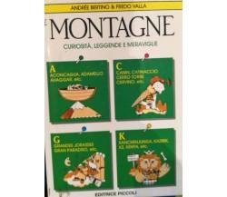 Le Montagne - Bertino - Valla - 1988 - Editrice Piccoli - lo