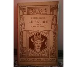 Le Satire 15°ed ( quinto Orazio flacco) di Enrico Bindi,  1946,  Zanichelli-F